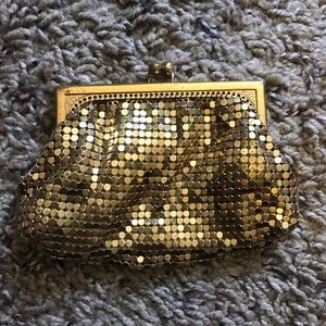Vintage Whiting and Davis coin mesh purse